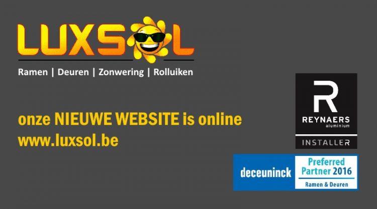 www.luxsol.be | bezoek onze nieuwe website